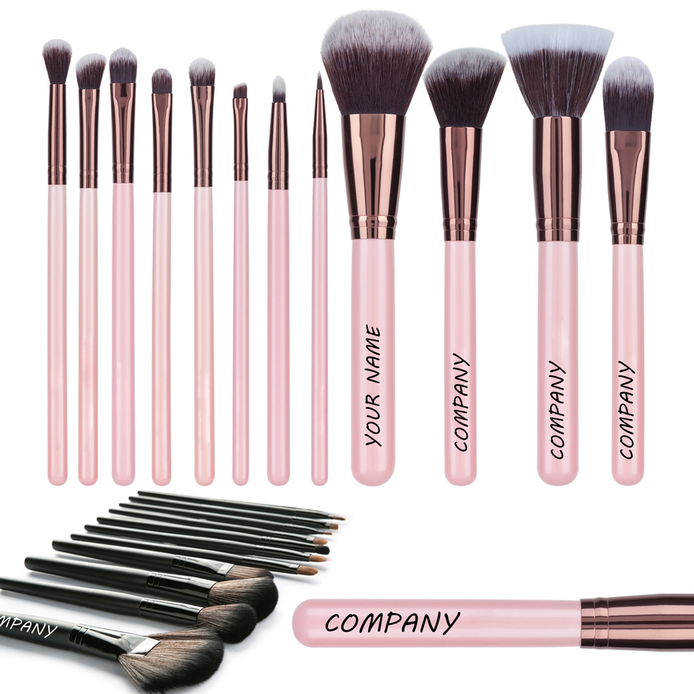 printed makeup brushes