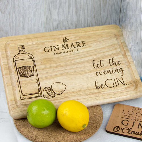 Laser engraved wooden chopping board