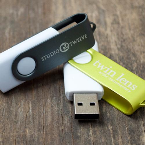 Laser engraved USB sticks